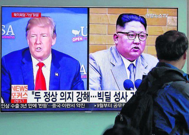 Cara a Cara. El líder norcoreano y el presidente de EE.UU. se reunirán el 12 de junio en Singapur.