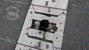 ¿Cuándo van a arreglar la peatonal?