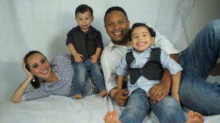 Días felices. Jaison estuvo junto a su familia hasta hace un mes y medio.