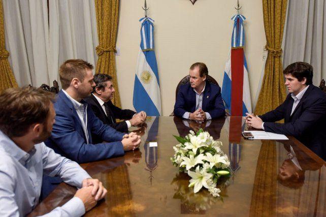 Reunión. Bordet y Gabás recibieron al empresario Lequio.
