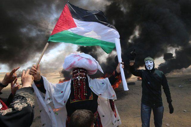 Una imagen de la protesta en Palestina.