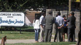 Reunión de mediación en barrio Lomas del Mirador. Foto UNO Archivo 2015.