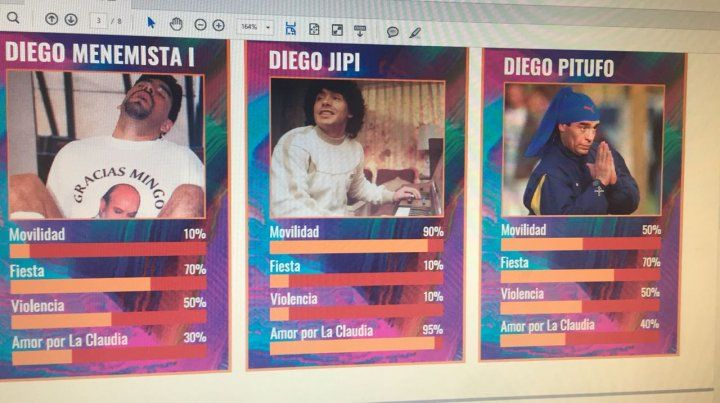 Cuatro amigas diseñaron las cartas de Diego Maradona que estallaron WhatsApp