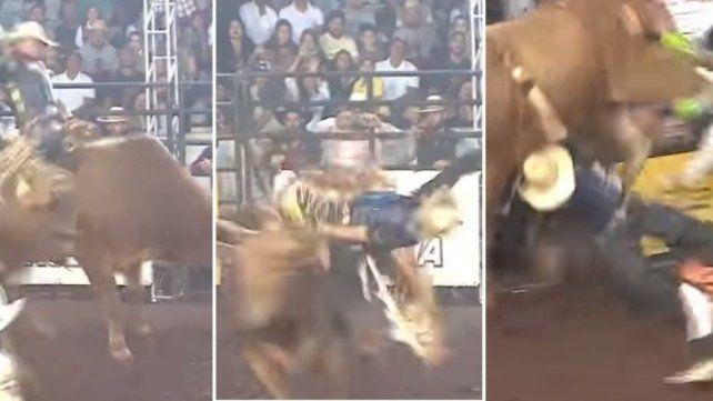 Vaquero murió aplastado por toro en un rodeo
