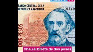 Video: así despiden al billete de dos pesos