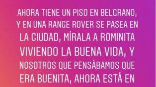 Morena Rial le declaró la guerra a Romina Pereiro: ¡Cómo me molestan las mujeres trepadoras!