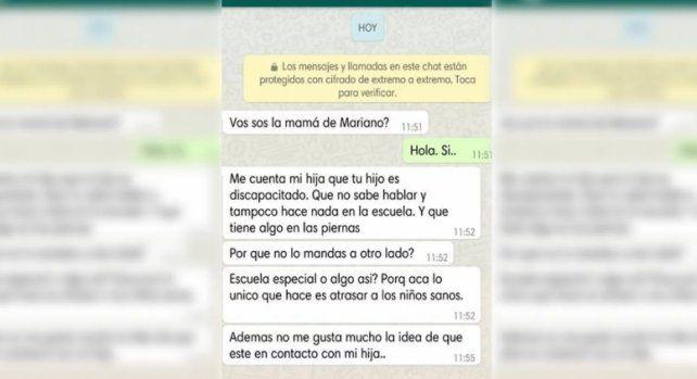 El mensaje que la mamá de un chico autista recibió de la familia de un compañerito