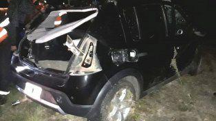 Ruta 20: un joven sufrió lesiones graves tras un violento vuelco