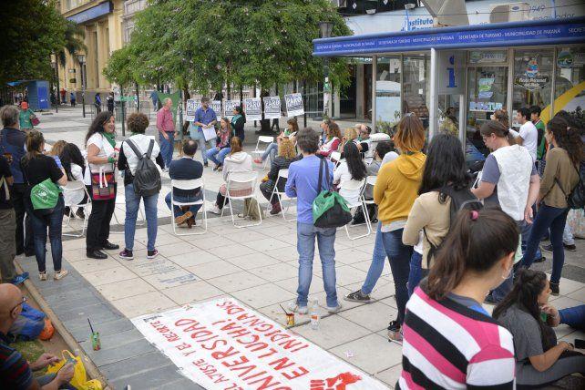La educación pública en el espacio público.