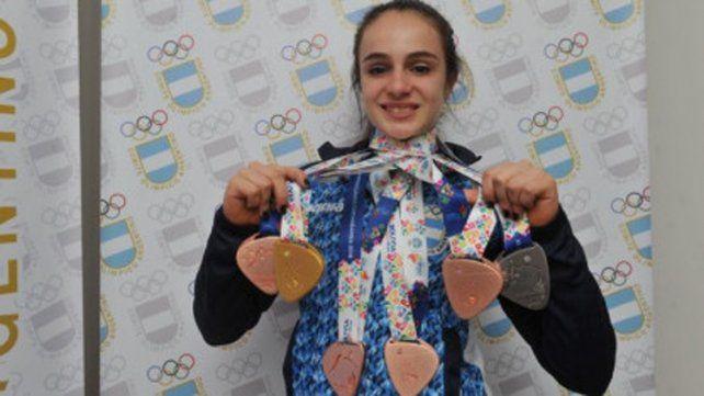 Martina Dominici, máxima medallista argentina en Cochabamba