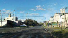 Calles Vacías. Ayer a la tarde, el movimiento era escaso en los barrios Ferroviario y San Roque.