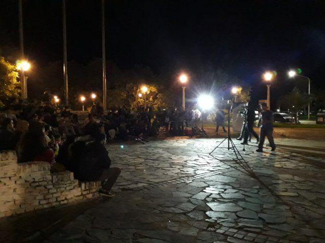 El primer encuentro de Rap Consciente en la plaza de la Naciones.