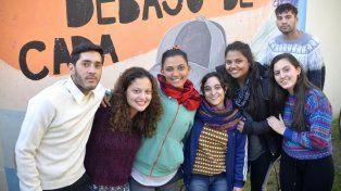 Estudiantes de Trabajo Social en la tarde del miércoles.