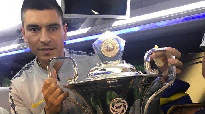 Paolo Goltz conquistó el bicampeonato con Boca Juniors.