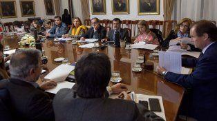 Reunión de Gabinete. El gobernador acordó el trabajo de estos días con sus funcionarios.