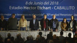 Buscando la unidad. Los referentes nacionales apostaron a cerrar las diferencias internas.