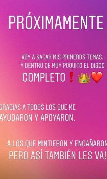 Morena Rial anunció que sacará un disco y le tiró un palito a su ex representante