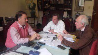 Lacoste visitó a Varisco en su despacho. De la reunión participó el concejal González.