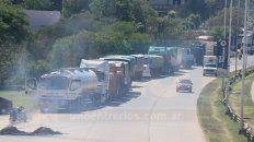En el túnel. Los camioneros se concentrarán en unos de los accesos a Paraná, y en otros puntos Entre Ríos.