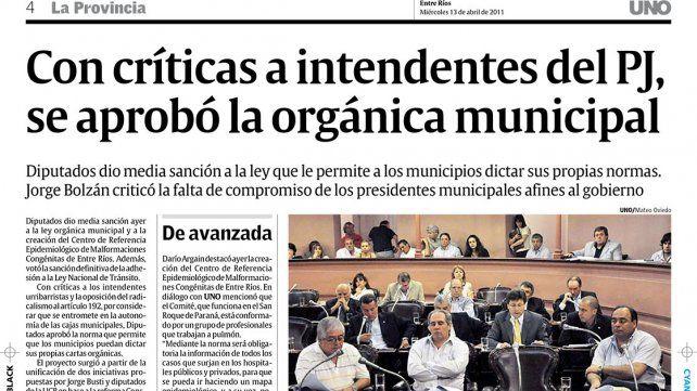 Ley. Con el paso del tiempo se fueron viendo las omisiones de la nueva ley orgánica de municipios.