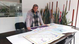 Arte. Ramón Yfran mostró sus trabajos en UNO