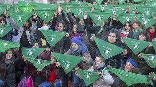 Plaza verde. Una masiva participación de mujeres