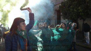 Jueves verde en Paraná: Este desequilibrio se vivió por la gran irrupción de las pibas