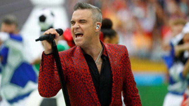 Robbie Williams la rompió en la apertura del Mundial de Rusia 2018