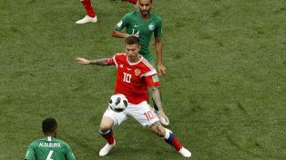 Goleada de Rusia en el inicio del Mundial 2018