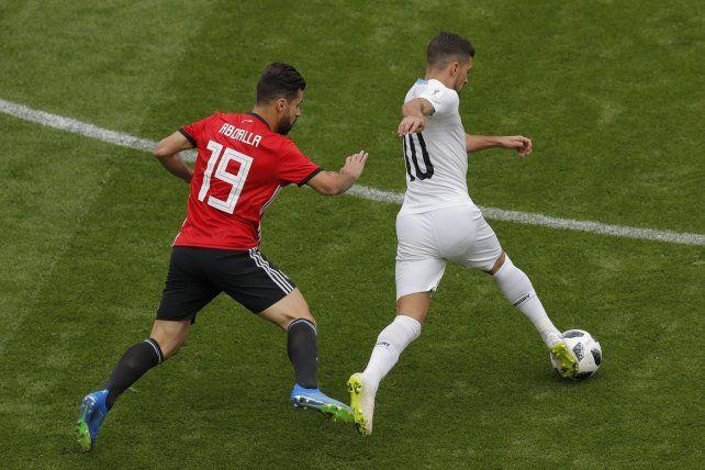 Uruguay golpeó en el cierre y derrotó a Egipto
