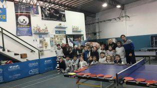 Los alumnos disfrutaron de una mañana inolvidable jugando Tenis de Mesa.