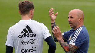 El técnico argentino tiene claro que al entrerriano no lo saca.