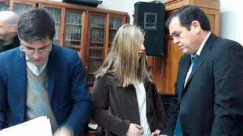 Poco interés. Hoy Nahír no prestó mucha atención a los testimonios. Foto: Radio Máxima