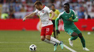 Senegal derrotó a Polonia en el cierre de la primera fecha del Mundial