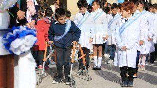 Los chicos de la escuela Bavio también conmemoraron el día