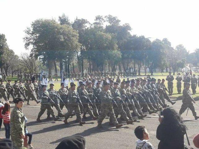 Día de la Bandera.Soldados del Ejercito Argentino juraron la insignia patria en Paraná
