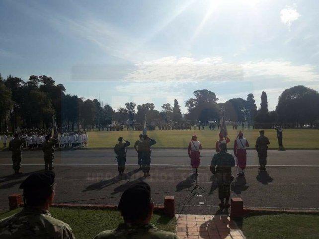 <b>Día de la Bandera. </b>Soldados prometieron fidelidad a la patria&amp;nbsp;<div><br></div><div><br></div>
