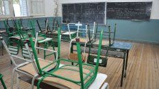 Vacías. Uno de los coletazos del paro se verá reflejado en las aulas.