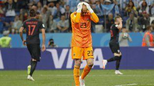 Wilfredo Caballero cometió un error grosero que provocó la apertura del marcador en la derrota ante Croacia.