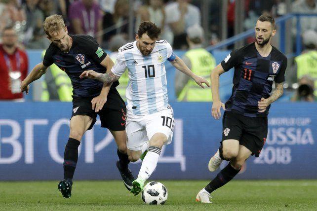 Messi recorrió 7.6 km en la derrota ante Croacia.