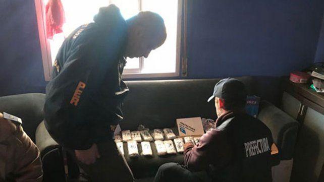 Desbaratada. La banda transportaba droga desde la Argentina hacia el Uruguay.