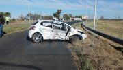 Choque directo. Por el incidente de los dos Peugeot, La mujer y la beba fueron internadas.