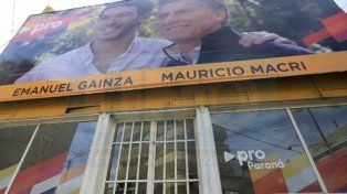 Local partidario. La sede del PRO en Paraná