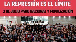 Agmer repudió la represión de docentes en Chubut y adhirió al paro de Ctera