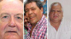 Sindicalistas. Daniel Ruberto, Walter Doronzoro y Hugo Permayú