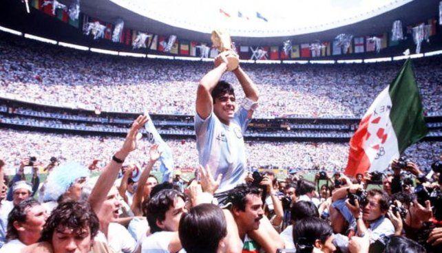 Maradona recordó en Instagram el título en México 86