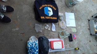 Pruebas. El fiscal Cristian Giunta dispuso el secuestro de la droga y la detención de varias personas.
