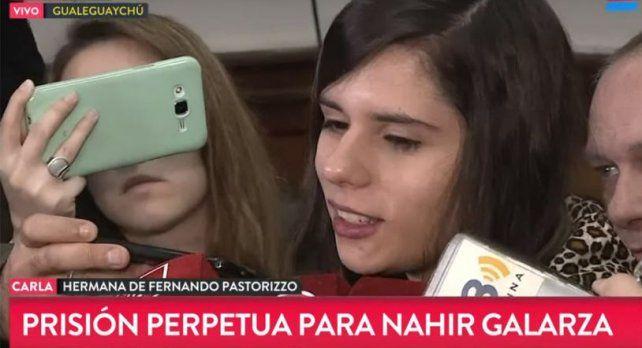 Carla Pastorizzo: Es la condena que se merece, opinó la hermana de Fernando