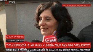 Silvia Mantegazza, madre de Fernando Pastorizzo, dijo que está en paz y tranquila