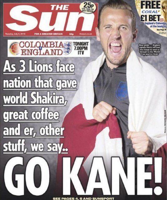 Go Kane!: La portada que calentó la previa de Colombia-Inglaterra